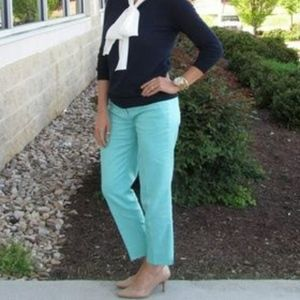J. Crew Skimmer Pant in Turquoise